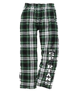 Green & White Plaid Flannel Pant