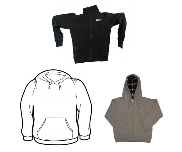 Hooded sweatshirts, track jacket